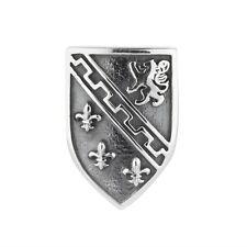 Schild mit Löwe Lilie Wappen Charm für Rebeligion Armband Black Rock Large Silbe