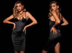 BNWT Honey Birdette Adele Black Midi Dress 34D
