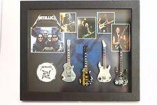 RGM8812 Metallica Miniature Guitars in Shadowbox Frame