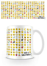MUG CUP EMOTICON EMOJE SMILEY FACE TEA OR COFFEE OFFICIAL 11OZ BOXED NEW CERAMIC