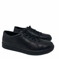 New Eileen Fisher Cal Washed Leather Black Sneakers US Size 8.5