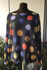 Size 14,16,18, 20 Top, Light Jumper, Quirky, Boho, Abstract, Funky, Italian!