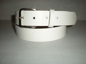 32mm Slight second white leather belts S to XX large sizes  £3.99 T4