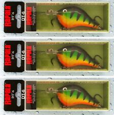 "(3) Rapala Dives To DT-6 2"" Crankbaits 3/8 Oz Lures Perch DT06 P BRAND NEW"