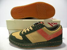 PONY CITY WINGS LOW CHEVRON SNEAKERS MEN SHOES BROWN/BLACK 2619 SIZE 11.5 NEW