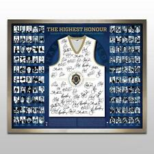 AFL BROWNLOW MEDALIST HAND SIGNED LIMITED FRAMED JUMPER WATSON JUDD SWAN COUCH