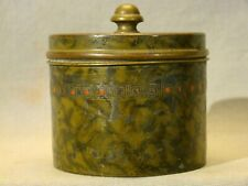 "Signed Bradley & Hubbard Art Deco Brass Humidor Tobacco Jar 1920's-1930's 3 1/2"""