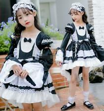 Girl Children's Cosplay Lolita Costumes Palace Princess Dress Maid Outfit New