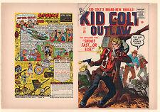 Kid Colt Outlaw #69 Unused Comic Book Cover - (Grade 9.0) 1957