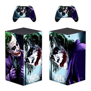 Xbox Series X Slim Console Controller Skins Decal The Dark Knight Joker DC Comic