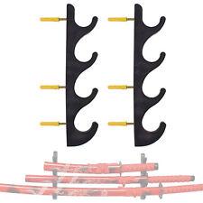 4 Tier Wall Mount Samurai Sword Katana Holder Stand Bracket Sword Rack