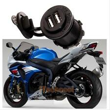 12V Dual USB Power Adapter Charger Socket Outlet for Motorcycle Car