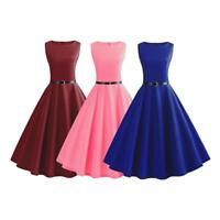 1pc Vintage 50s 60s Retro Style Rockabilly Pinup Housewife Party Swing Tea Dress
