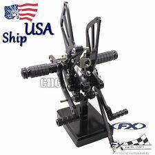 CNC Rearset Pedal Foot Rest Peg For SUZUKI GSXR1000 2000 2001 2002 2003 2004 US