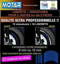 LISERET JANTE FZ8 FZ 8 STICKER AUTOCOLLANT 23 couleurs au choix