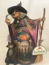 Jim Shore Heartwood Creek Witch w/Crystal Ball What Do I See Halloween