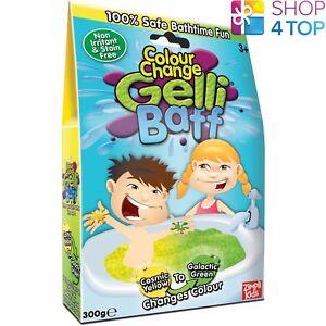 GELLI BAFF COLOR CHANGE YELLOW GREEN TURN WATER INTO GOO JELLY BATH KIDS NEW