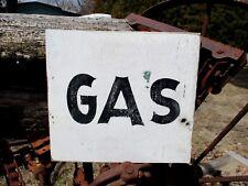 Vintage Wood GAS Sign Service Station Auto Shop Garage Art