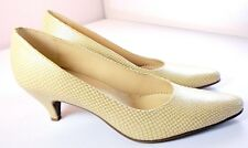 Naturalizer Pumps Beige Faux Snake Printed Heels Womens Size 10 M