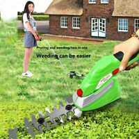 2 in1 Electric Grass Trimmer Cordless Manganese Steel Blade Garden Trimming Tool