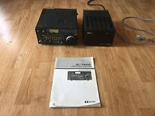 ICOM IC-720A All Band Transceiver + IC-PS15 Power Supply + Manual Ham Radio