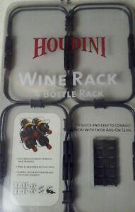 Wine Holder Houdini 4 Bottle Plastic Wine Rack Organizer Storage NEW Red White