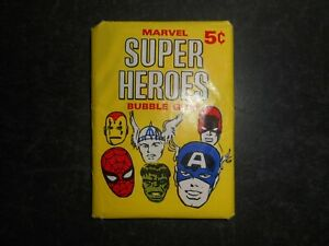 1966 MARVEL SUPER HEROES CARD WAX PACK DONRUSS (POPPED SEAL)