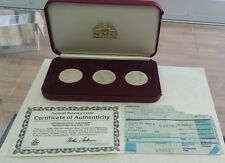 Morgan Silver Dollar Set 1880s-1881s-1882s Uncirculated,& BOX by NMC.CERTIFICATE