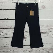 Lands' End Girls Sz 4 Blue Pants Dress Khakis Wide Leg Flare Uniform School H104