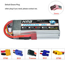 HRB 14.8V 2200mAh 4S 30C 60C Lipo Battery For RC Drone Helicopter Great Planes