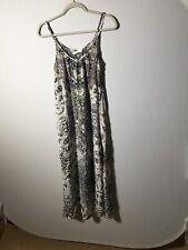 Inoa Australia Womens Silk Beaded PatternMaxi Dress One Size Aus 10 NWOT Kaftan