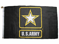 3x5 Black US Army Gold Star Active Duty Veteran Vet One Army Strong Flag 3'x5'