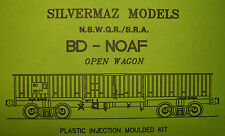 "BD/NOAF BOGIE OPEN WAGON KIT OF THE N.S.W.G.R.by ""Silvermaz Model Railways"" HO"