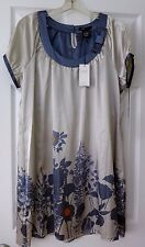 BCBG  MaxAzria Max Azria Jacqueline Gray Combo Floral Tunic Dress XL NWT $240