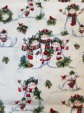 Christmas Snowman curtain valance
