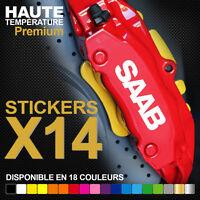 Compatible Stickers autocollants adhésifs étrier de frein - SAAB 900 TURBO 9-3