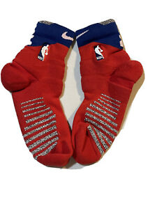 Nike NBA Players Issued Cushioned Ankle Socks Red And Blue Size:XL