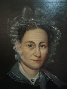 1850 antique portrait oil painting of a lady needs restoration
