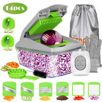 Vegetable Chopper Slicer With Container Fruit Dicer Veggie Kitchen Cutter Tools
