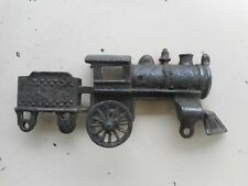 Antique Cast Iron Train Locomotive Toy Incomplete One Side For Repair