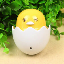 Cute Mini Yellow Duck Shape LED Night Light Plug-in Socket Lamp Bedroom US