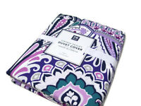 Pottery Barn Teen Multi Colors Cotton Vintage Paisley Twin Duvet Cover New