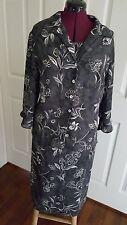 Laura Scott women's dress suit. Gorgeous gray floral  dress and jacket,  SZ 16W