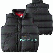 New Polo Ralph Lauren Tartan Plaid Down Vest 2XL