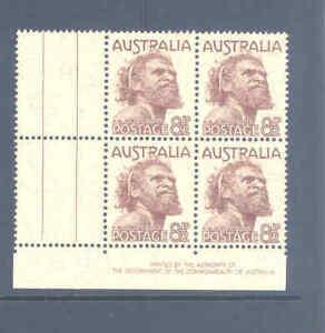 AUSTRALIA PREDECIMAL 1950 KGVI DEFS IMPRINT BLOCK VERY FINE MNH..............24
