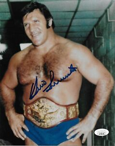 BRUNO SAMMARTINO WWF WWE SIGNED AUTOGRAPH 8X10 PHOTO #4 JSA COA