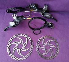 Shimano XTR M966 disc brakes gear dual control set pair front rear 180/160mm