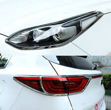 FIT FOR 17- KIA SPORTAGE CHROME HEAD FRONT FOG TAIL LIGHT LAMP TRUCK COVER TRIM