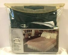 New Vintage Barclay Never Press Bed Ruffle California King Size Bed green Allure