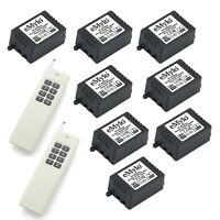 eMylo DC 6V 8X1 Channel Relays Smart Wireless Remote Control RF Light Switch